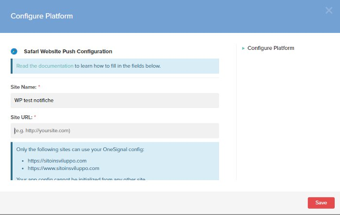 5. Configurazione delle notifiche push per Safari