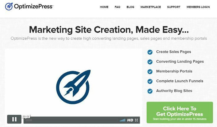 OptimizePress - creare landing page
