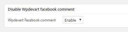 Opzione per nascondere i commenti di Facebook su WordPress