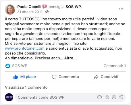 Paola Occelli - Recensione corso TUTTO SEO