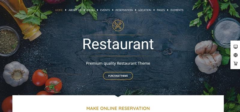 Tema Pearl per ristoranti