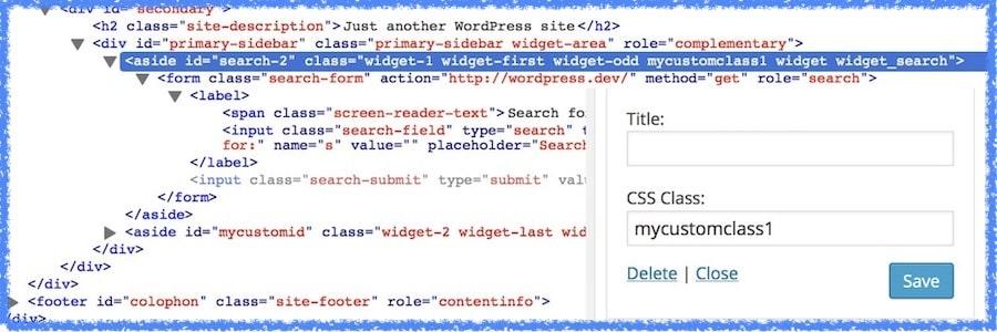 Personalizzare lo stile dei widget con il plugin Widget CSS Classes