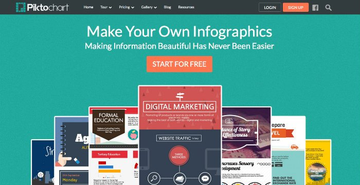 crea infografiche con Piktochart
