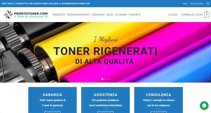 Prontotoner.com - Creazione sito eCommerce di SOS WP™