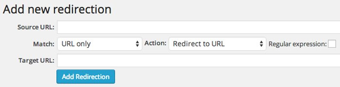 Redirection plugin per WordPress - Pagina Errore 404