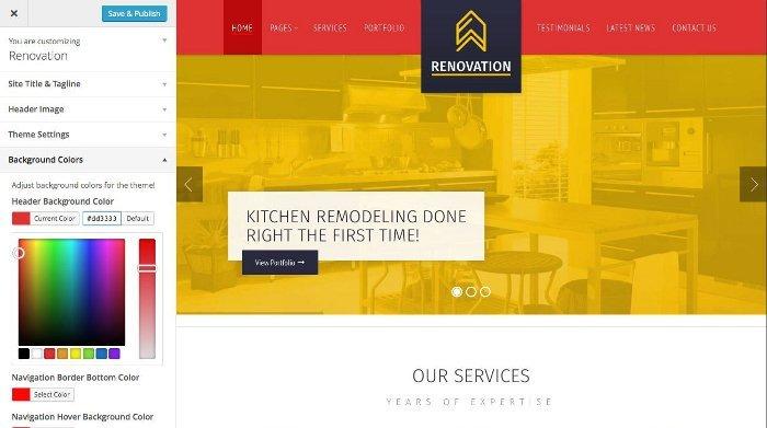 Temi per vendere servizi - Renovation