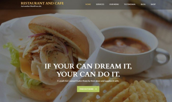 Restaurant and Cafe tema per WordPress