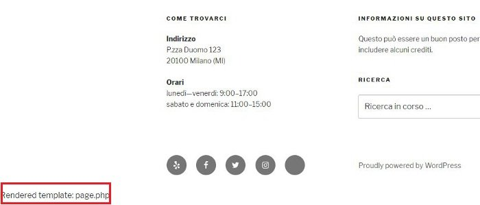 Reveal Template - trovare quale file template modificare su WordPress