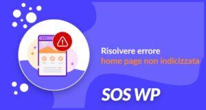 Risolvere errore home page non indicizzata