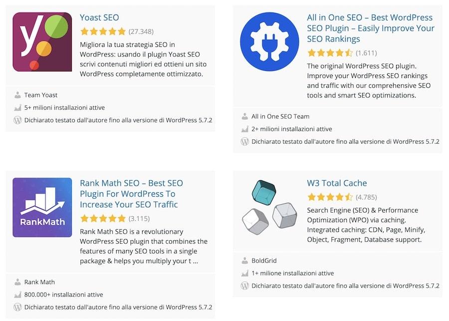 SEO for WordPress plugin che automatizzano l'ottimizzazione di pagine e articoli