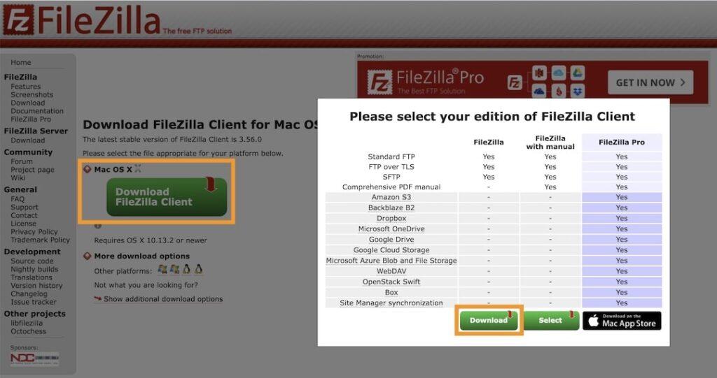 Scarica FileZilla