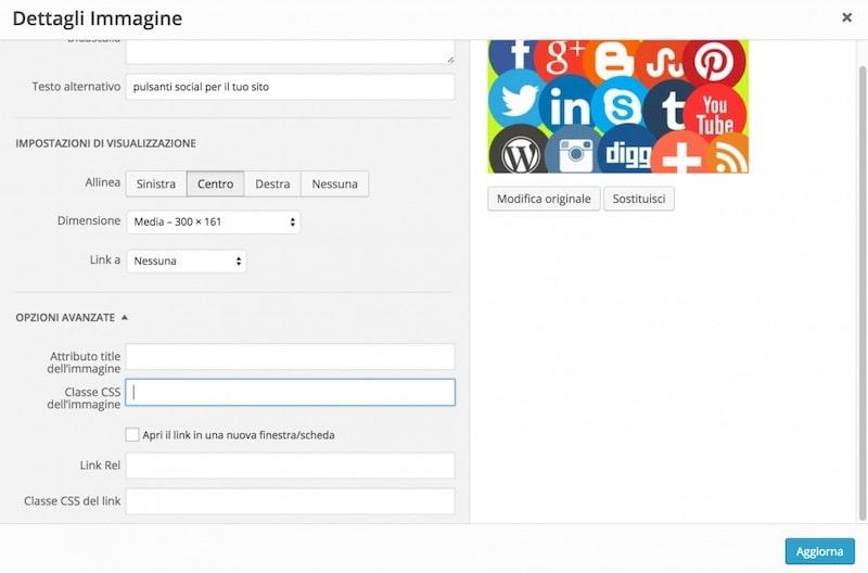 modificare le immagini WordPress con il CSS