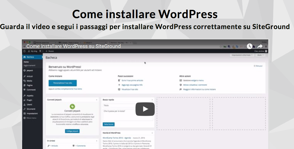 installare wordpress per creare blog gratis