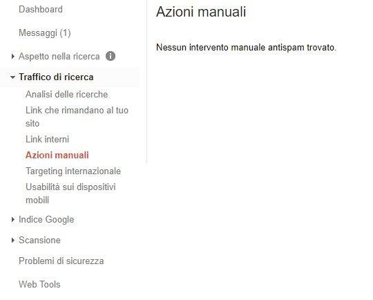 Azioni manuali penalizzazioni di Google
