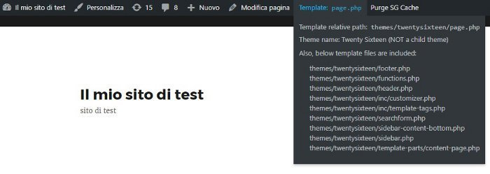 Show Current Template - plugin per trovare quale file template modificare