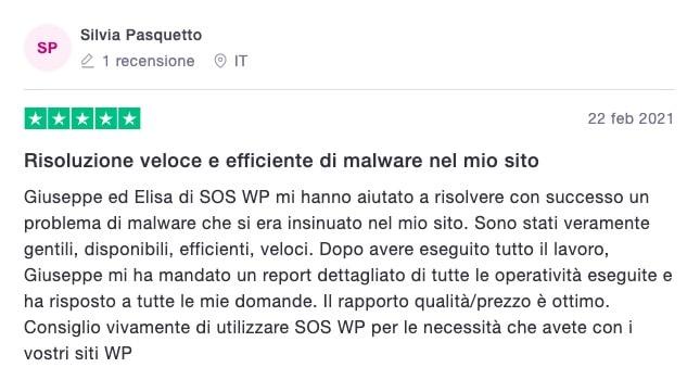 Silvia Pasquetto - recensione servizio Assistenza WordPress