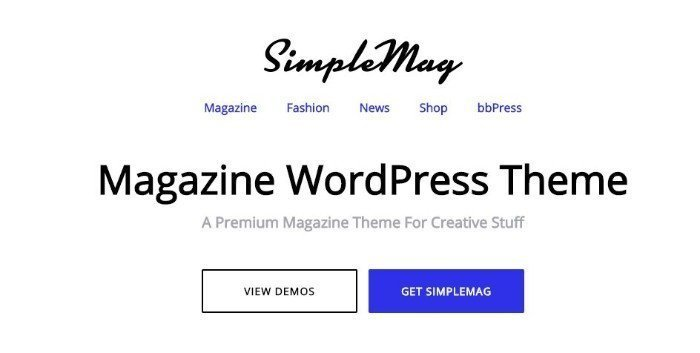 Simple Mag tema blogging