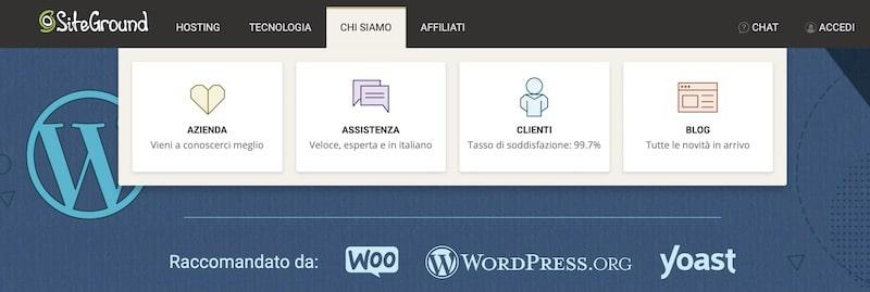 SiteGround opinioni - Assistenza Italiano