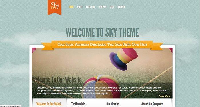 Sky tema per artisti