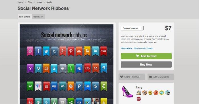 Social Network Ribbons
