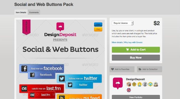 Social & Web Buttons per bottoni social
