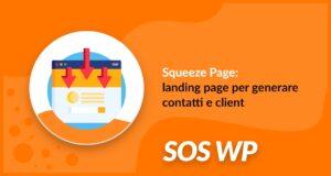 Squeeze page per generare contatti