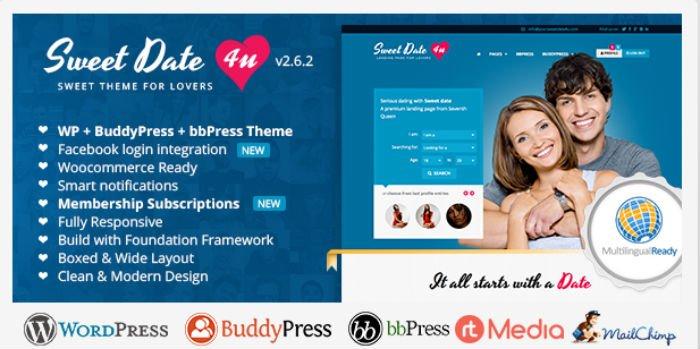 Sweet Date - Tema WordPress Dating