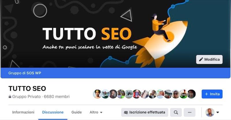 TUTTO SEO Gruppo Facebook