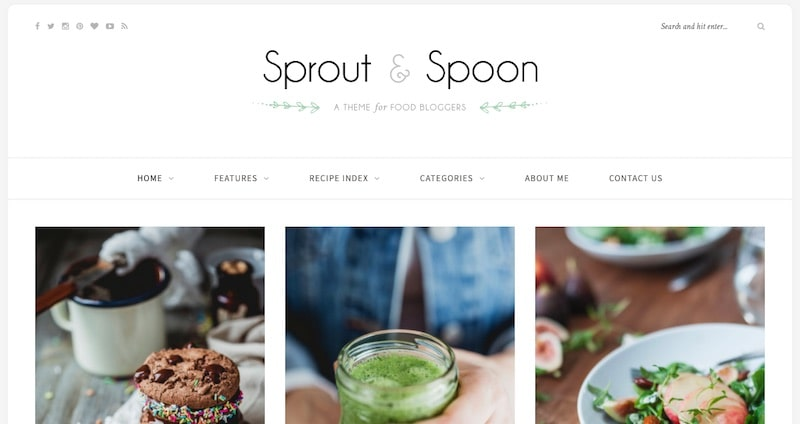 Tema WP Sprout & Spoon