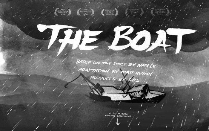 The Boat - esempio di parallasse usato per storytelling