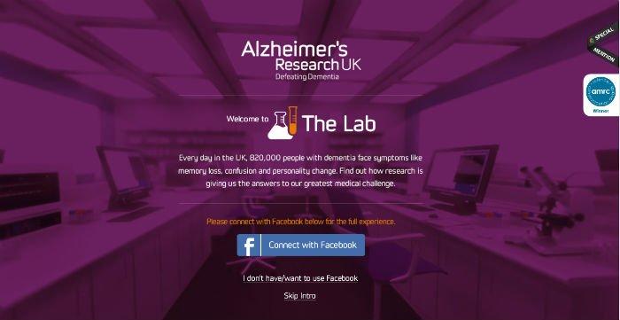 The Lab sito con utilizzo effetto parallasse