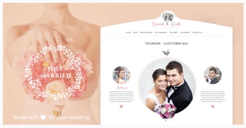 The Wedding Day tema WordPress