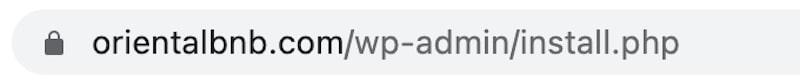 URL per prima installazione