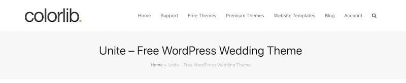 Unite tema per WordPress