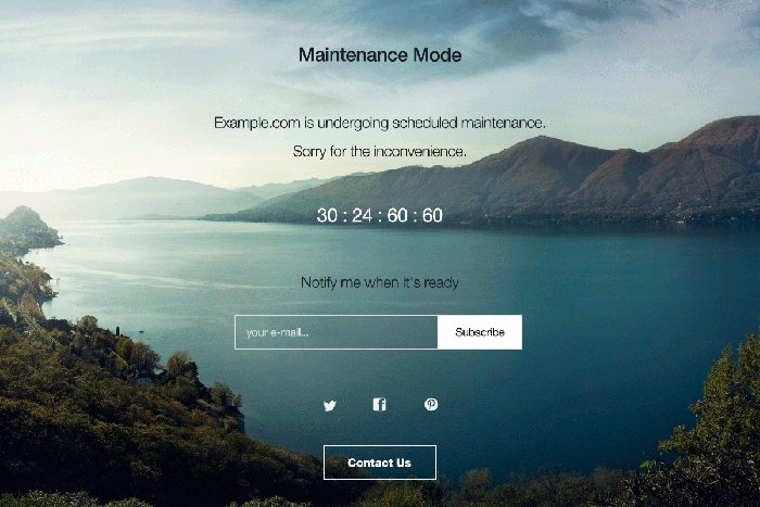 sito WordPress in manutenzione con WP Maintenance Mode
