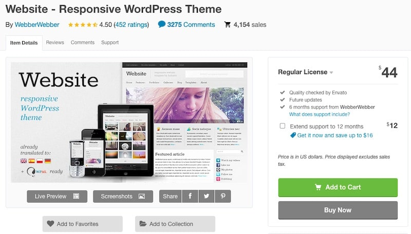 Website - Tema WordPress
