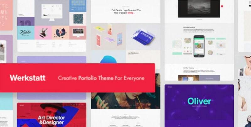 Migliori temi portfolio per WordPress - Werkstatt