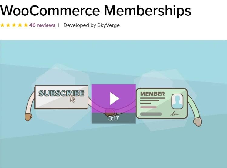 WooCommerce Memberships - plugin WooCommerce per gestire sottoscrizioni