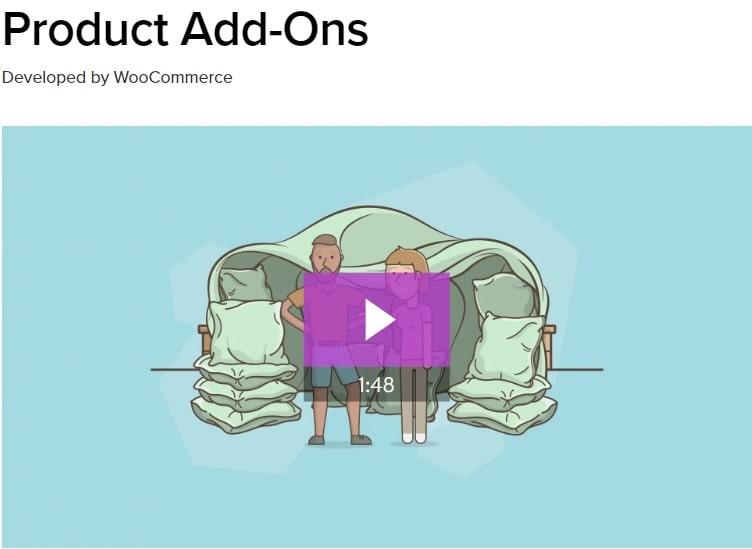 Product Add-Ons - estensione per personalizzazione prodotti