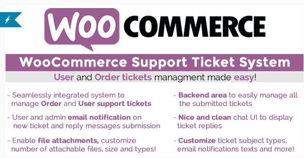 Woocommerce support system per gestione ticket
