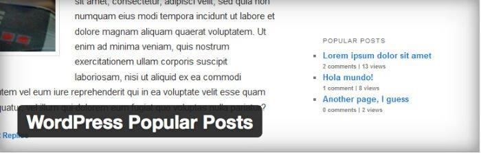 WordPress Popular Post widget per la sidebar