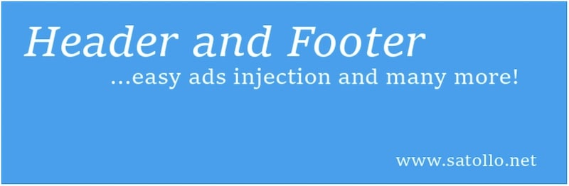 WordPress plugin - Head Footer and Post Injections