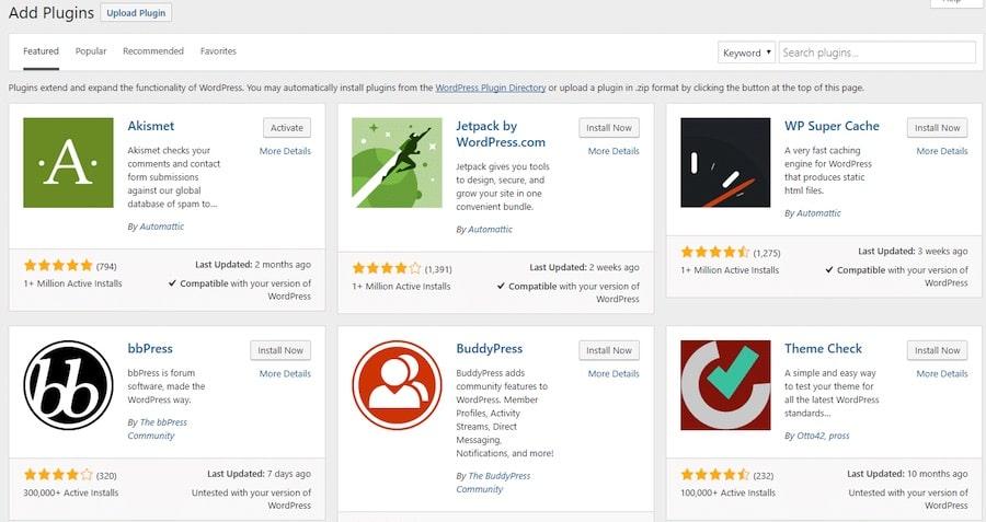 WordPress plugins quali sono i migliori plugin per WP