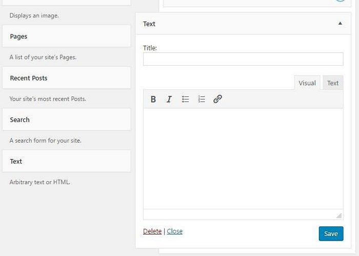 Il nuovo Widget di testo per WordPress