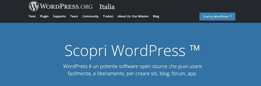 Differenze WordPress ORG-COM - WordPress ORG