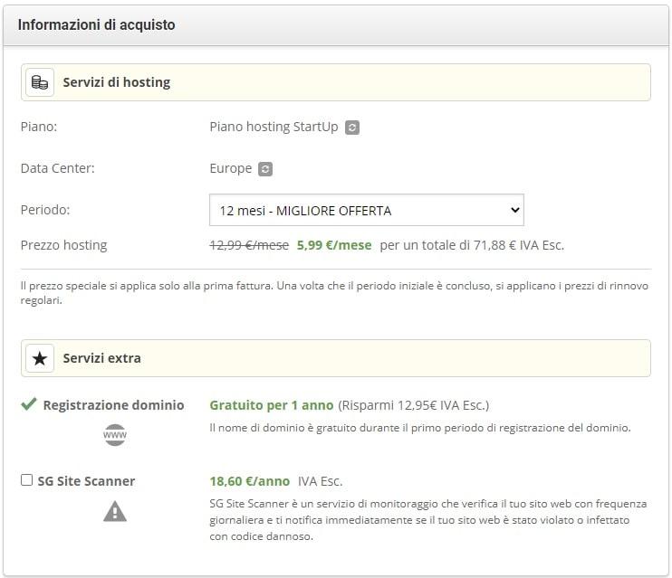 Servizi - trasferire sito WordPress e dominio su SiteGround