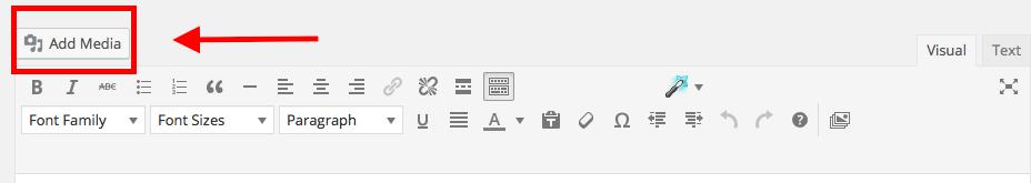 come usare WordPress - aggiungere un file