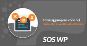 Come aggiungere icone nel menu WordPress