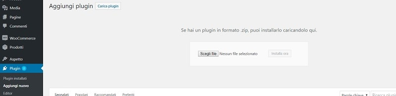 come installare plugin WordPress manualmente