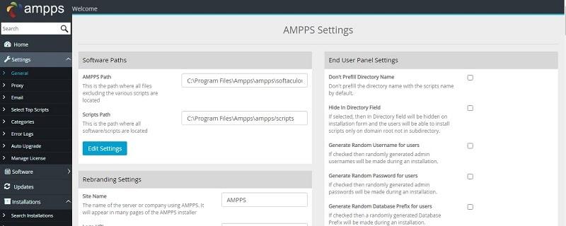 AMPPS admin
